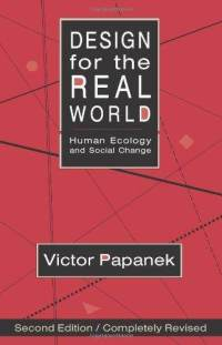 design-for-real-world-human-ecology-social-change-victor-papanek-paperback-cover-art