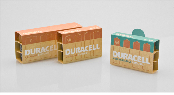 Duracell battery packaging