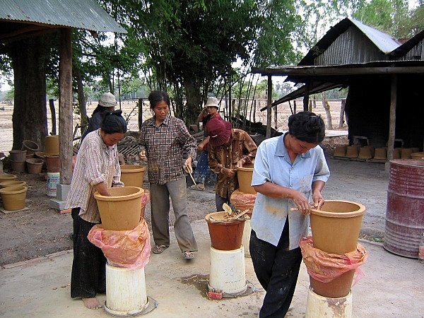 Ceramic Water Filters by Dr. Fernando Mazariegos, Ron Rivera, and IDE Cambodia. Image courtesy of IDE.