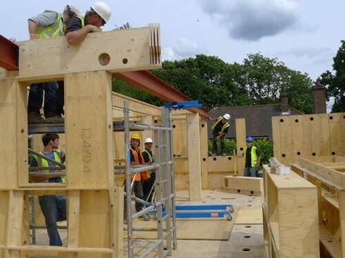 The plywood box structure as seen on Grand Designs. Image courtesy of http://www.the-self-build-guide.co.uk/facit-homes.html