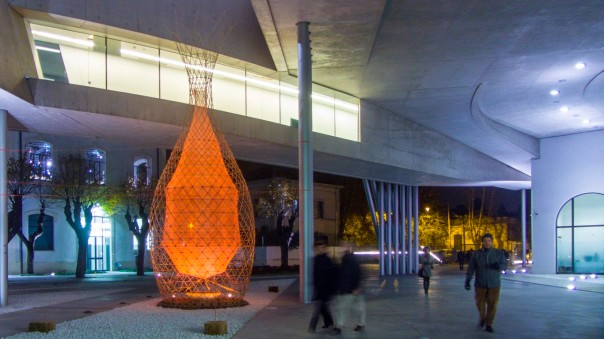 WarkaWater exhibited at Museum for 21st Century Art MAXXI in Rome. Image: Architecture & Vision.
