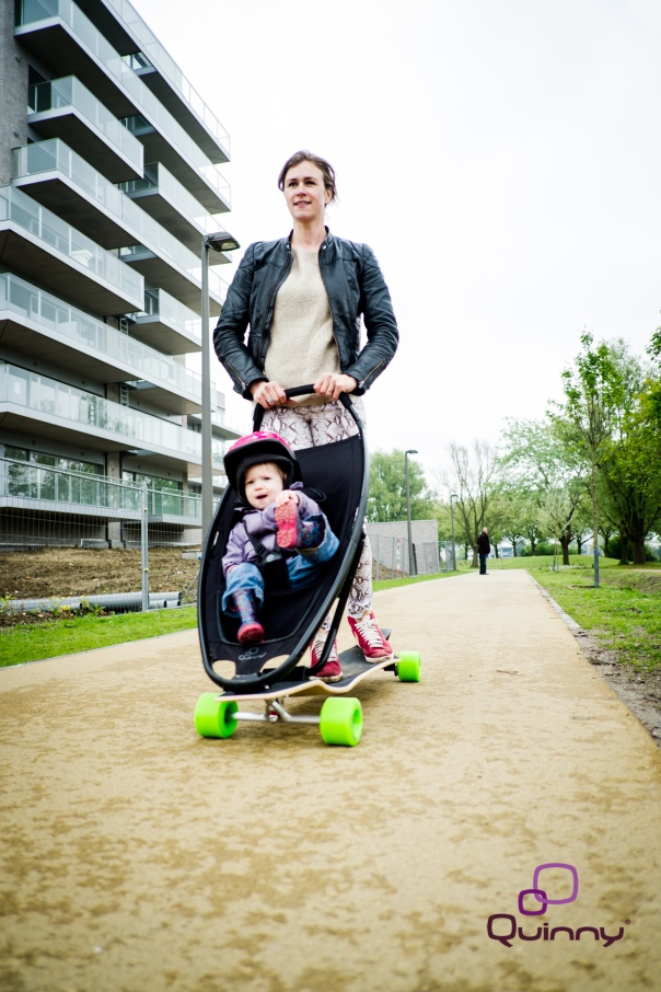 The Longboard Stroller is currently in a prototype testing phase. Image courtesy of Longboard Stroller.