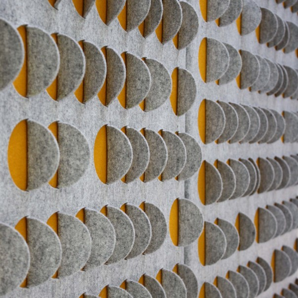 'Scale' felt wall panel by Selina Rose. Image courtesy of selinarose.co.uk.