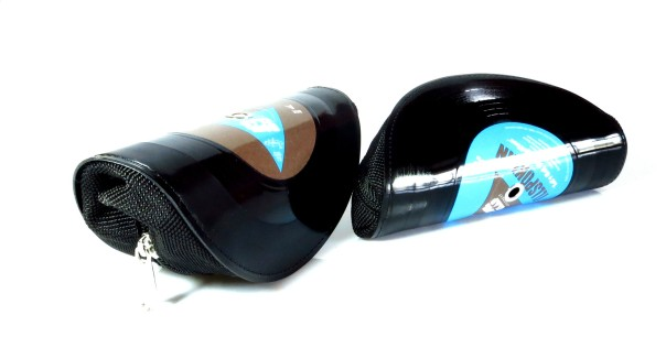 The glasses also come in re-purposed vinyl record cases. Image courtesy of Vinylize.