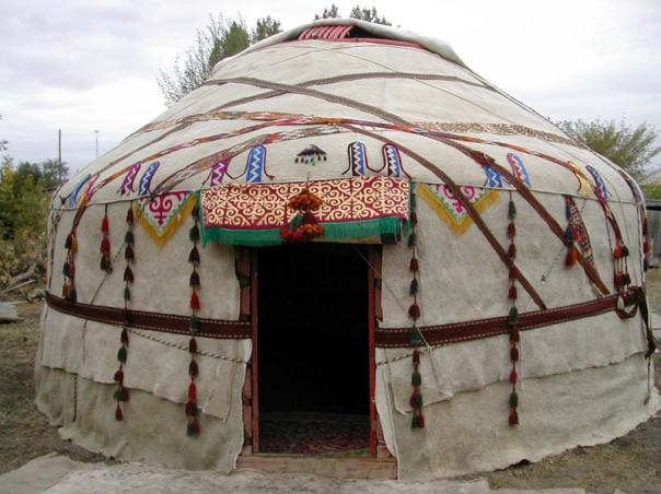 Traditionally nomadic peoples have used felt to cover their huts, known as yurts.