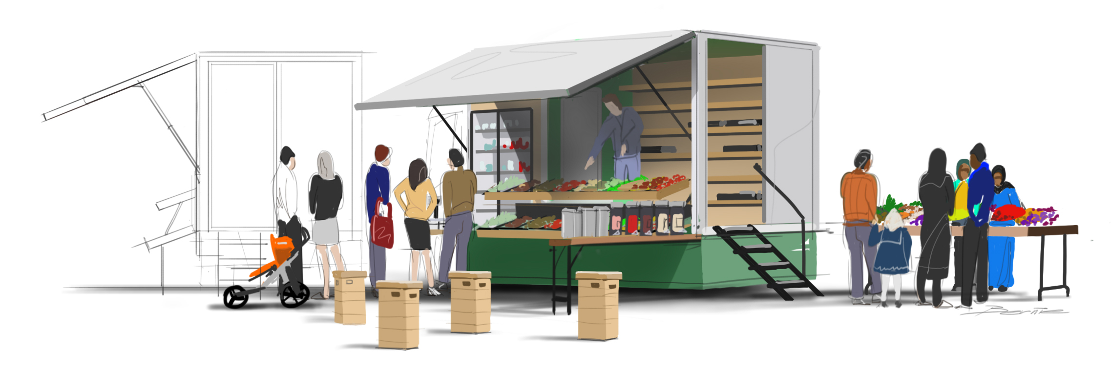 the asrc food justice truck less by design. Black Bedroom Furniture Sets. Home Design Ideas