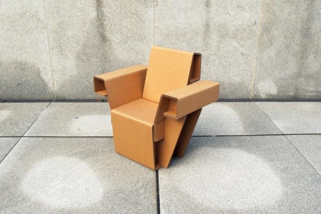 Chairgami's Cardboard Armchair (USA)