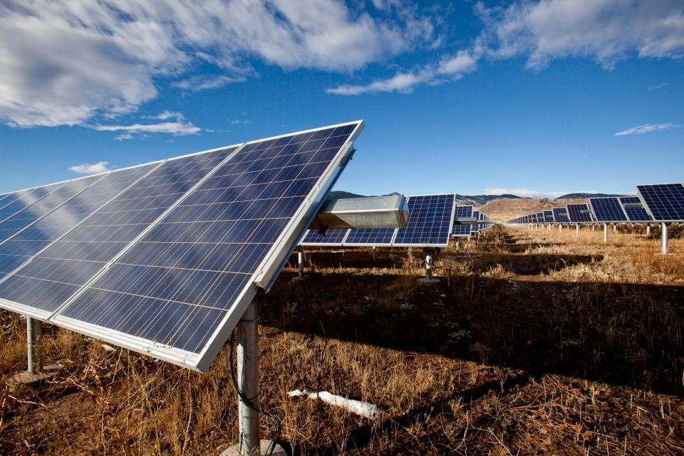 A Trina Solar installation at Colarado State University